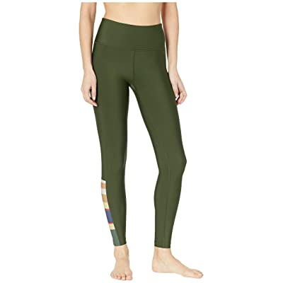 Hurley Quick Dry Pendleton Badlands Surf Leggings (Outdoor Green) Women