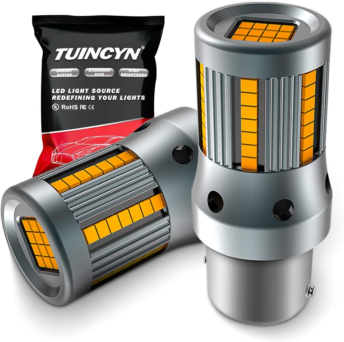 TUINCYN Seasonal Max 85% OFF Wrap Introduction 1156 LED Bulb Amber Anti Free Turn CANBUS Si Flash Hyper