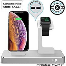 ONE Dock (APPLE CERTIFIED) Power Station Dock, Stand & Built-In Lightning Charger for Apple Watch Smart Watch (Series 5,4,3,2,1, Nike+), iPhone, iPad, and iPod