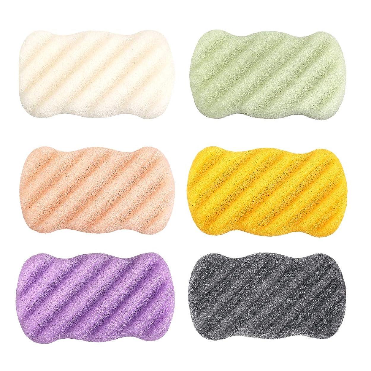フィードバック些細な堂々たるB Blesiya 6個 洗顔スポンジ コンニャク ソフト パフ スキンケア 快適