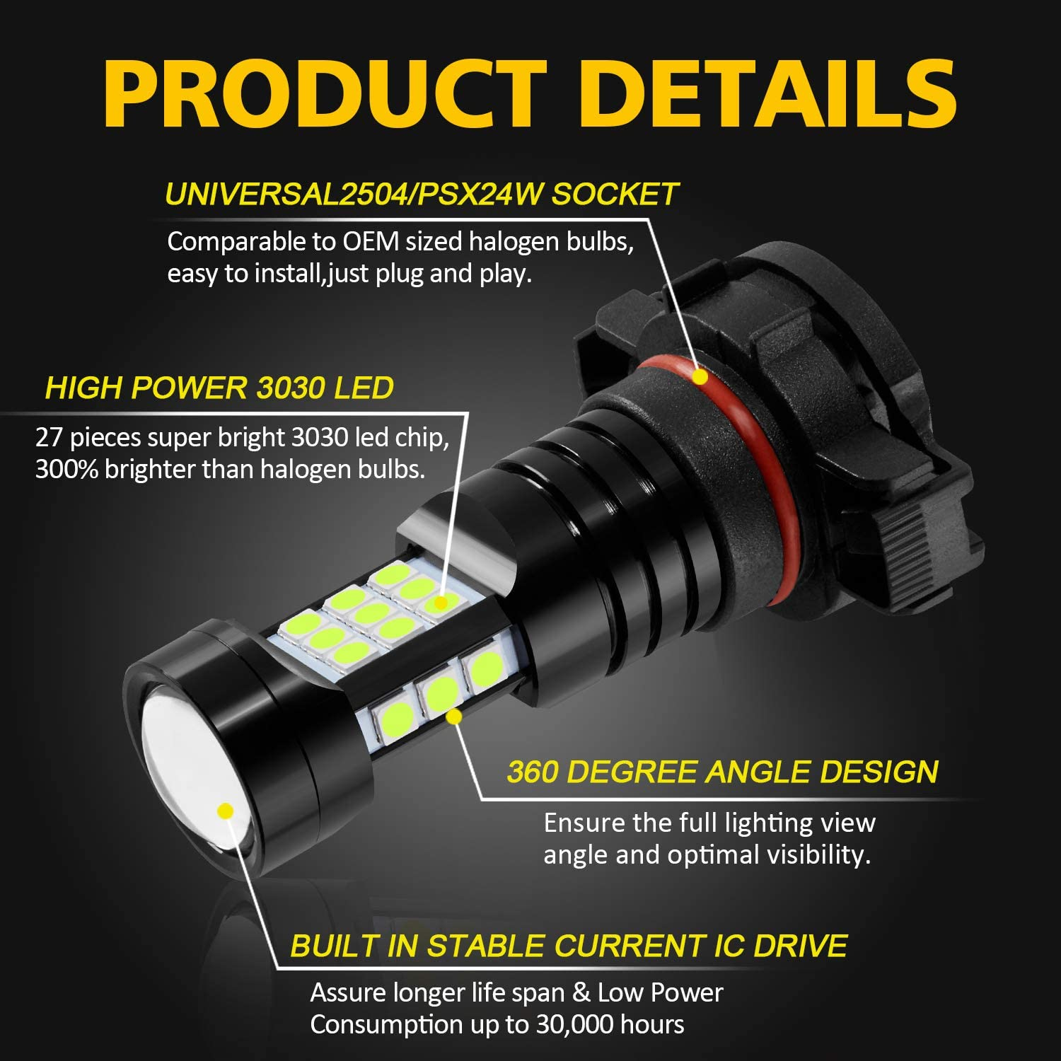 3000 Lumens Extremely Bright 889 886 894 862 896 898 Bulbs ...