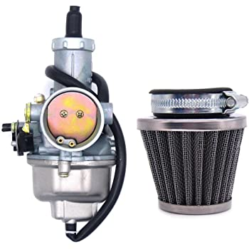 PZ30 30mm Carburetor with Cable Choke Lever and Motorcycle Air Filter Compatible with 150 200 250 300 cc Pit Dirt Bike ATV Scooter Moped Engines