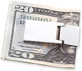 Nickel Plated Hinged Money Clip Man Fashion Jewelry Gift for Dad Mens for Him