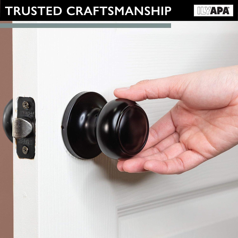 Keyless Locking Door Handles For Bedroom Or Bathroom Interior Privacy Door Knob Matte Black Finish Door Knobs Tools Home Improvement Kancelaria Causa Pl