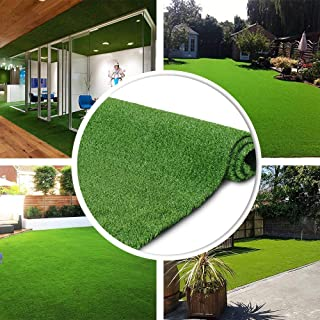 GL Artificial Grass Turf Lawn - 7FTX15FT(105 Square FT) Indoor Outdoor Garden Lawn Landscape Synthetic Grass Mat