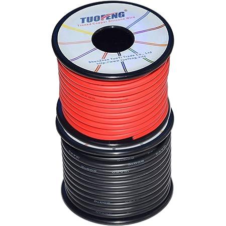 5 m Cable noir 4mm2 pour cablage des syst/èmes /énerg/étiques