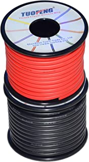 TUOFENG 12 AWG Electrical Wire 70 feet Silicone Wire Soft and Flexible of Tinned Copper Wire [35 ft Black And 35 ft Red] 12 Gauge Stranded Wire High temperature resistance