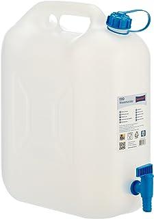 comprar comparacion Hünersdorff Bidón para agua ECO 22L con grifo, PEAD natural, con grifo de descarga azul montado de forma fija