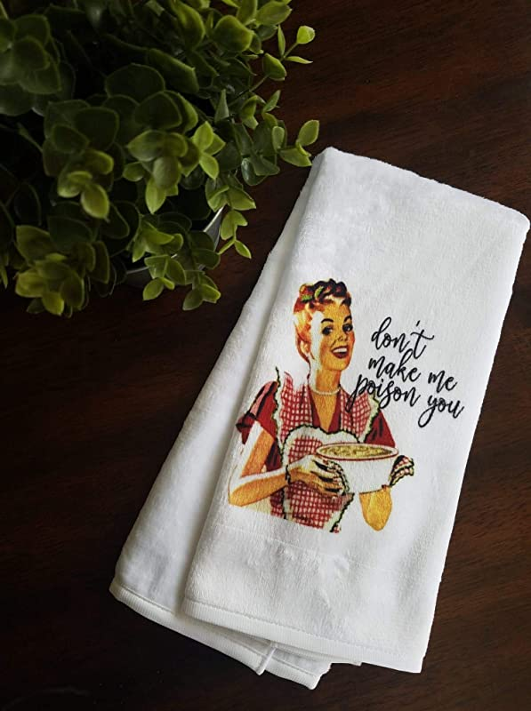 Funny Retro Kitchen Towel Mother S Day Gift For Her Dish Cloth With Saying