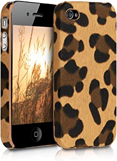 kwmobile Case for Apple iPhone 4 / 4S - PU Leather Protective Back Cover for Smartphone - Brown/Black/Light Brown