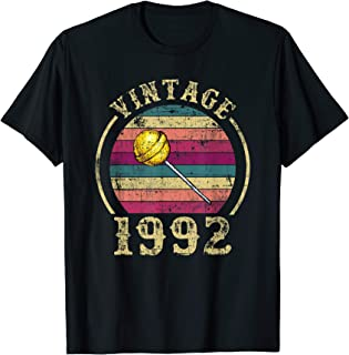 Made In 1992 Birthday Vintage Retro Lollipop Funny Gift Idea T-Shirt