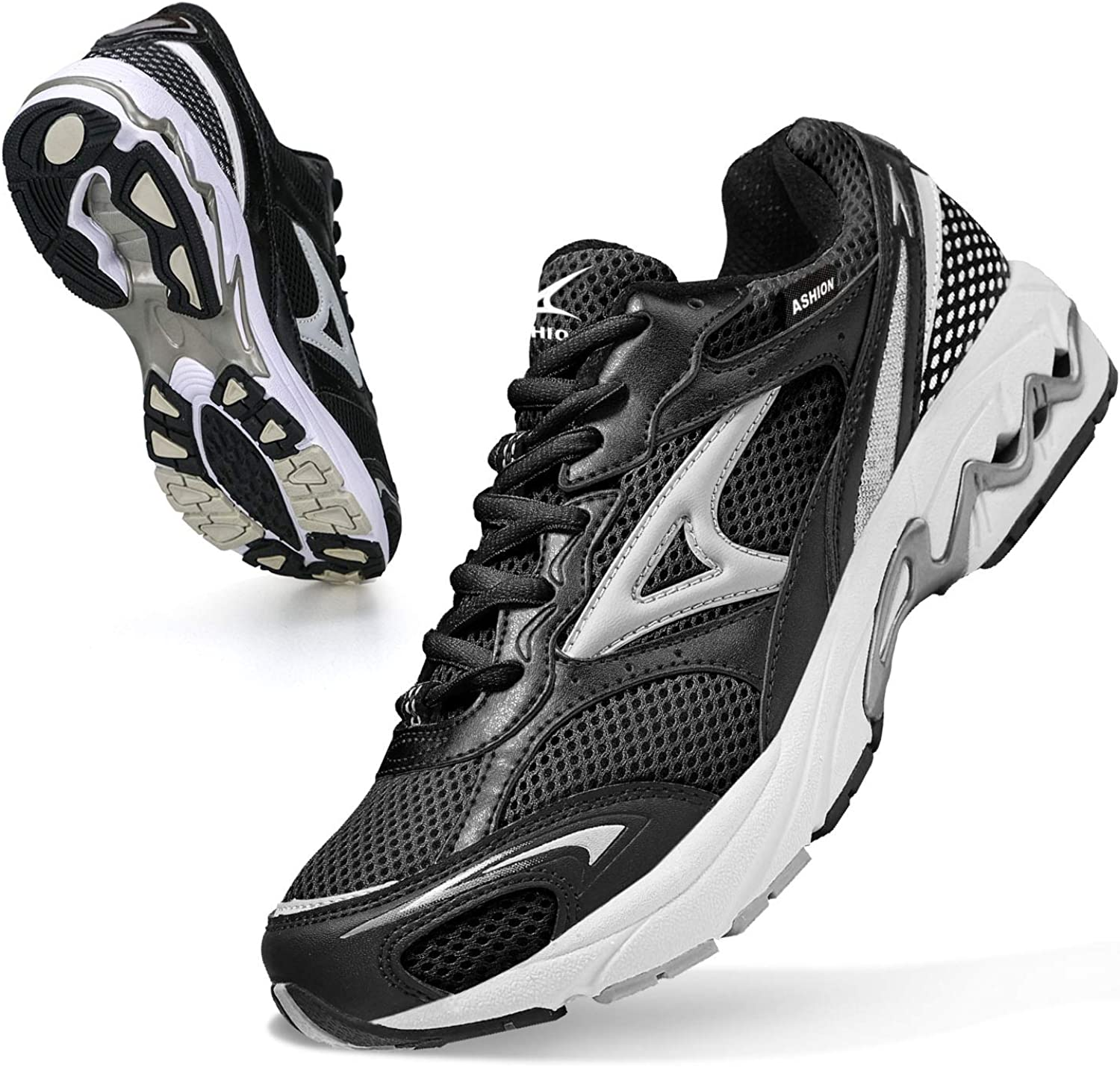 Same day shipping ASHION Mens Road Trail Running Shoes cheap Walking Workou Athletic Gym