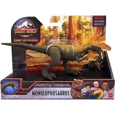 マテル ジュラシック・ワールド : サバイバル・キャンプ 2021 サベッジ・ストライク アクションフィギュア モノロフォサウルス / MATTEL JURASSIC WORLD CAMP CRETACEOUS SAVAGE STRIKE Action Figure MONOLOPHOSAURUS 映画 恐竜 フィギュア グッズ アニメ NETFLIX ネットフリックス [並行輸入品]
