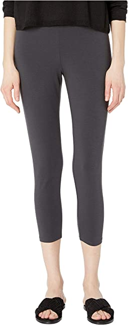 Lightweight Cotton Stretch Jersey Cropped Leggings