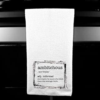 Ambitchous Definition, Funny Kitchen Tea Bar Towel Gift for Women