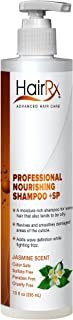 HairRx Professional Nourishing Shampoo +SP (for Oily Scalps) with Pump, Light Lather, Jasmine Scent, 10 Ounce