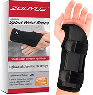 Carpal Tunnel Wrist Brace, Night Sleep Wrist Support, Removable Metal Wrist Splint for..