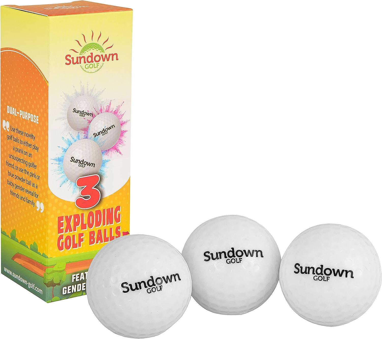 Sundown Golf Box Max 45% OFF of 3 Prank Reveal Exploding Gol wholesale Gender Joke