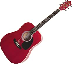 Kay Steel String Full Size Dreadnought 6 Red Cabernet Finish, Right Handed (K537RC)