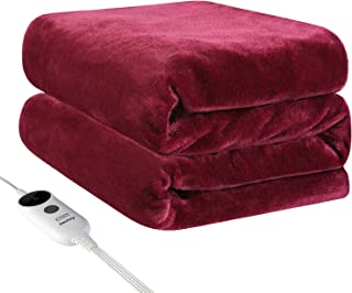"""60x50/"""" Electric Heated Flannel Blanket 2-Layer Washable Warm Blankle W// Control"""