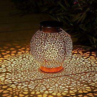 Lanterne Solaire Exterieur, Othran Marocaine Métal LED Lampe Lanterne Exterieur, IP44 étanche, Lampe Solaire Extérieur Lan...