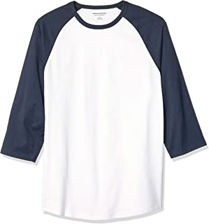 Men's Regular-fit 3/4 Sleeve Baseball T-Shirt