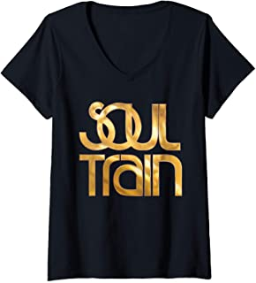 Womens Boogie Train Love Soul V-Neck T-Shirt