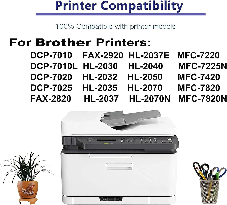 6-Pack (Black) Compatible HL-2032, HL-2035, HL-2037, HL-2037E, HL-2040, HL-2050, HL-2070 Printer Drum Unit Replacement for Brother DR2000 Drum Kit