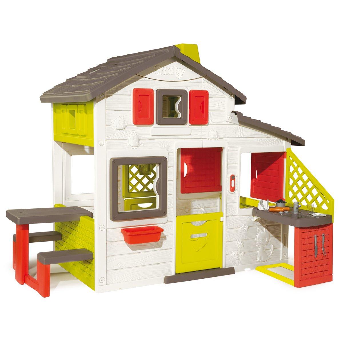 Charles Bentley Smoby niños los niños jardín Aire Libre Grande casa Juego Mesa Picnic Juego Set: Amazon.es: Juguetes y juegos