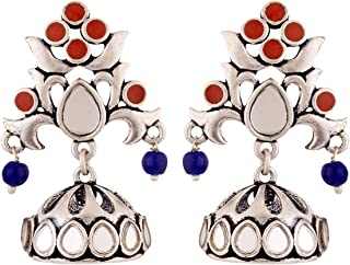 Voylla Jhumki Earrings for Women (Silver)(8907617855059)