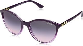 VOGUE Women's 0vo5165s Non-Polarized Iridium Cateye Sunglasses, Transparent Violet Gradient, 55 mm