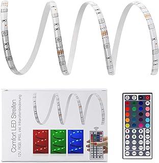 LED Universum 10 Meter Comfort LED Streifen Set RGB mit Netzteil, Controller & 44-Tasten-Infrarot-Fernbedienung, 30 LED/m,...