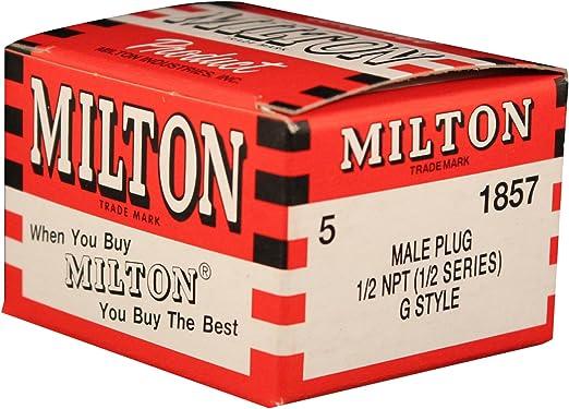 Milton 1857 1//2 Male G Plug