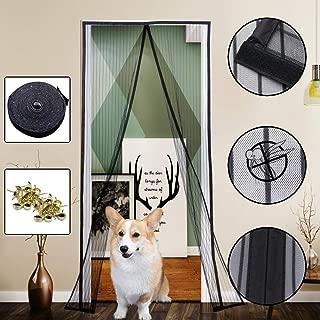 Yofit Magnetic Screen Door Curtain, Heavy Duty Mesh Curtain Self-adhesive Velcro Door Screen Fits Door Frame Size Up To 36