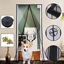Yofit Magnetic Screen Door Curtain, Heavy Duty Mesh Curtain Self-adhesive Velcro Door Screen Fits Door Frame Size Up To 36