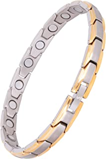 Elegant Womens Titanium Magnetic Therapy Bracelet Pain Relief for Arthritis and Carpal Tunnel
