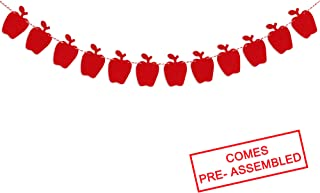 Felt Apple Garland Banner - Back To School Banner - Fall Banner - School Banner - Classroom Decor - Teacher Gifts - Apple Birthday Baby Shower Wedding PartyDecorations