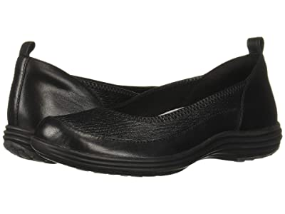 Aravon Quinn Curved Slip-On (Black) Women