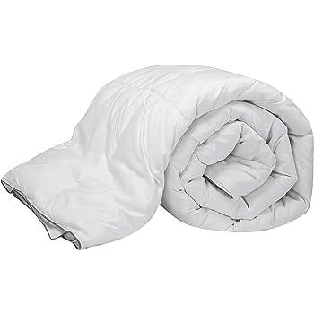 Pikolin Home - Edredón/Relleno nórdico natural de plumón de oca 96%, funda 100% algodón de percal, 220gr/m², 240x220cm-Cama 150/160 (Todas las medidas)