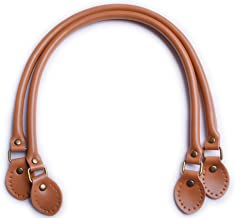 Artibetter 2 Pieces Leather Handles Leather Straps Handbag Making Supplies Talla 1 Coffee