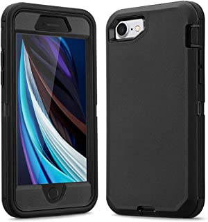 Ballaber for iPhone SE 2020 / iPhone 7 / iPhone 8 Case 3 in 1 Full Body Heavy Duty Defender Shockproof Hard Bumpe Soft Sil...