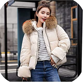 Surprise S Short Jacket Velvet Fabric Thick Warm Collar Hooded Loose Bust Parkas Jacket