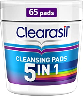 Clearasil 5-In-1 Ultra Cleansing Pads, 65 each