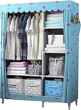 Home Locker Wardrobe Storage Steel Pipe Strong and Sturdy Hanging Wardrobe Used for Rental Room Bedroom 105x45x170cm HAODAMAI