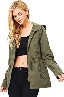 Women's Cargo Style Hoodie Jacket