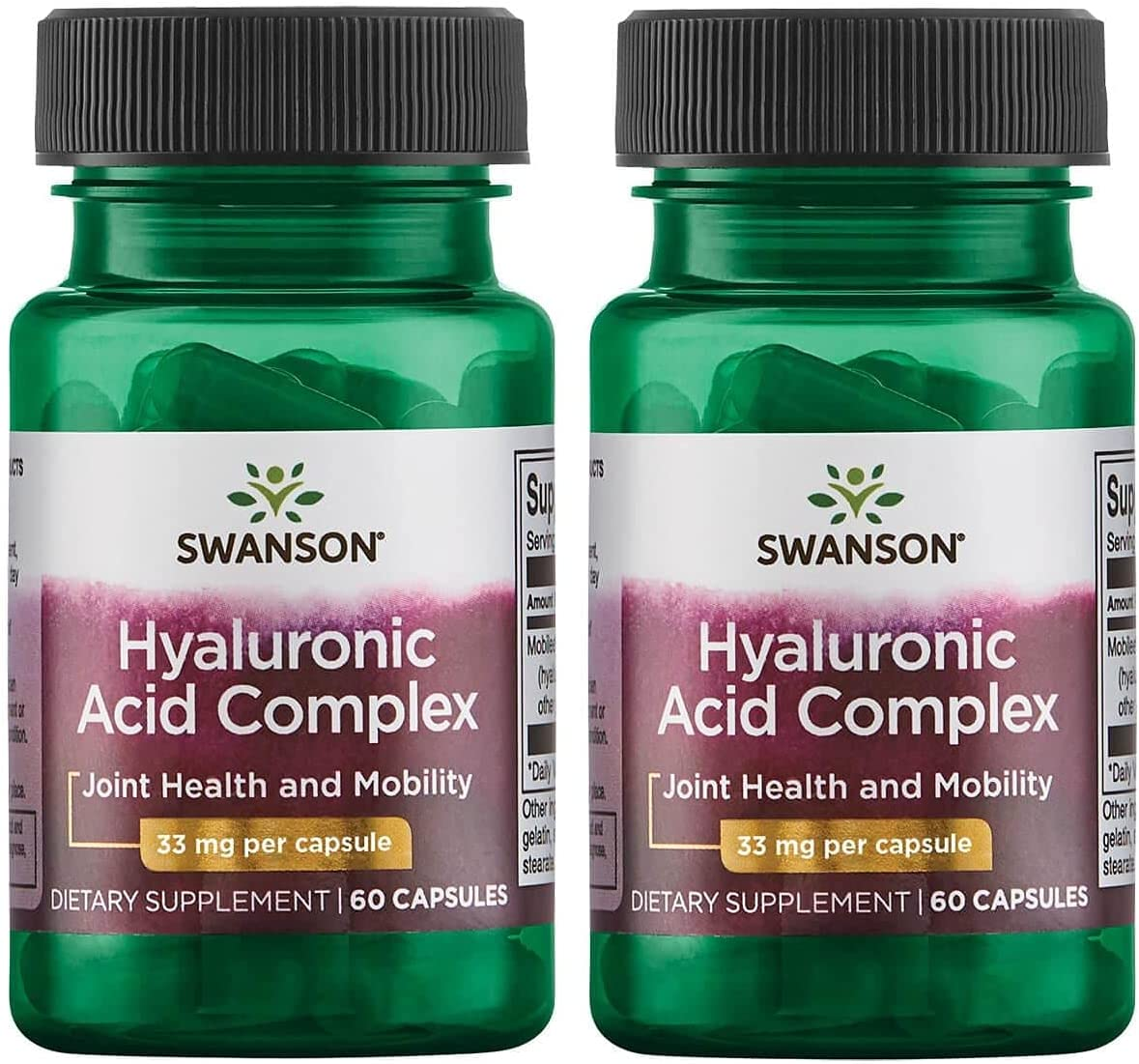 Swanson Hyaluronic Acid Complex 33 OFFicial shop Selling mg 60 Pack 2 Caps