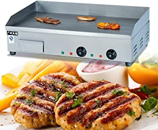 4400W Commercial Electric Countertop Griddle Flat Hotplate Kitchen Stainless Steel Adjustable Temperture Control BBQ Steak Cooker