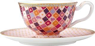 MAXWELL & WILLIAMS HV0118 Teas & C's Kasbah Ensemble Tasse à thé et Soucoupe dans Un Coffret Cadeau, Rose
