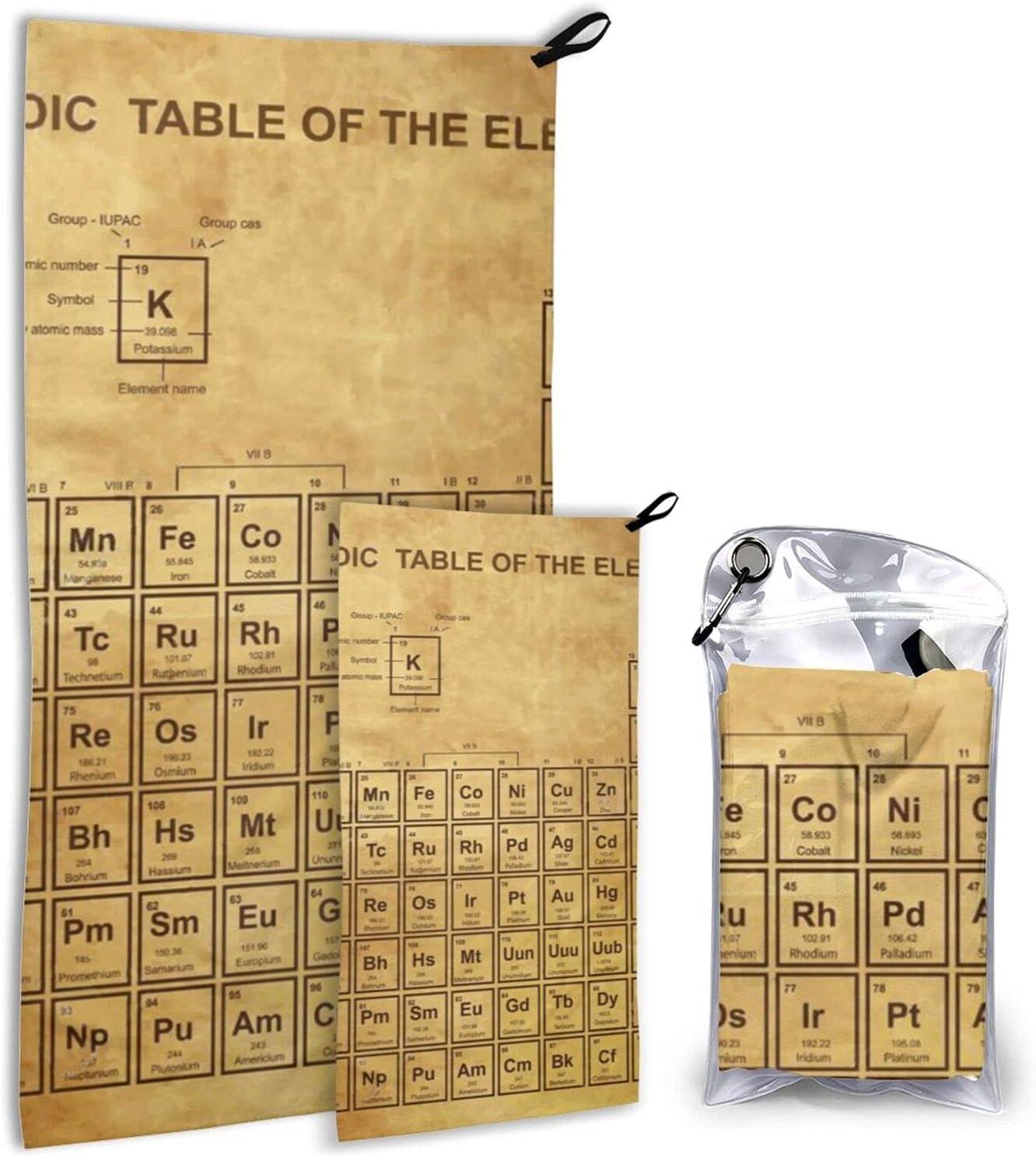 Elements Chemistry Scientists Student 2 Towels shipfree Microfiber Latest item Pack
