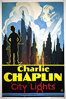 American Gift Services - City Lights Vintage Charlie Chaplin Movie Poster (2) - 24x36